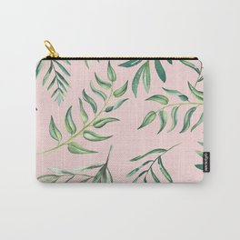 Floating Leaves Pink #society6 #buyart Carry-All Pouch