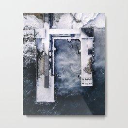 Bird's-Ice View Metal Print
