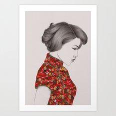 Paper Doll Art Print