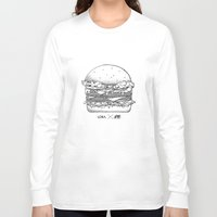 burger Long Sleeve T-shirts featuring Burger by Les Très Tresses