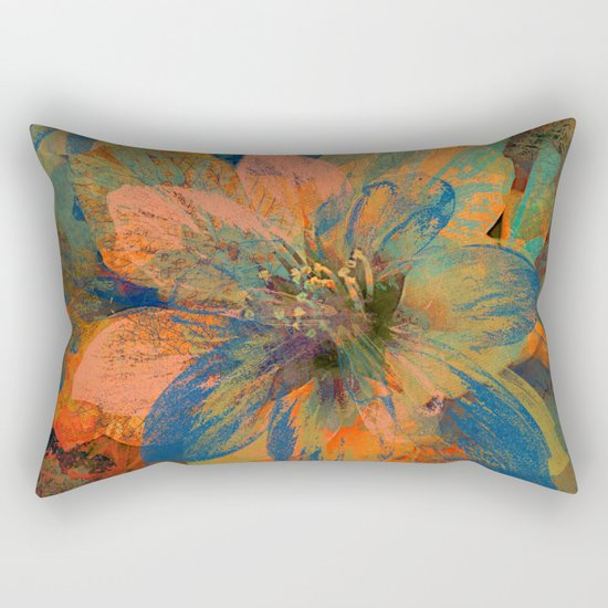 Floral abstract(43) Rectangular Pillow