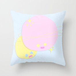 Planetary Pals Throw Pillow
