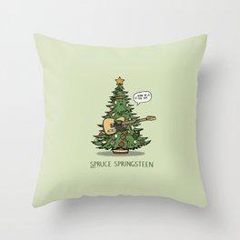 Spruce Springsteen Throw Pillow