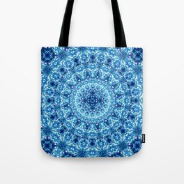 Crystal Radiance Mandala Tote Bag