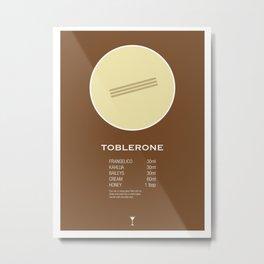 Toblerone Cocktail Recipe Poster (Metric) Metal Print