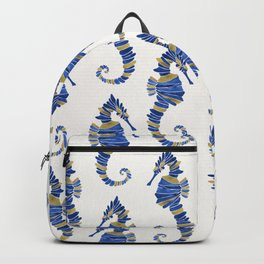 Seahorse – Navy & Gold Backpack