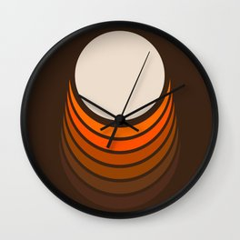 Golden Crescent Wall Clock