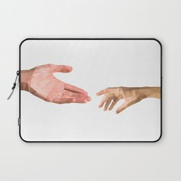 Connecting two people's hands Laptop Sleeve