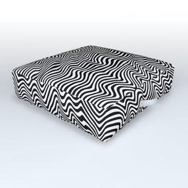 Op Art Stripes Outdoor Floor Cushion