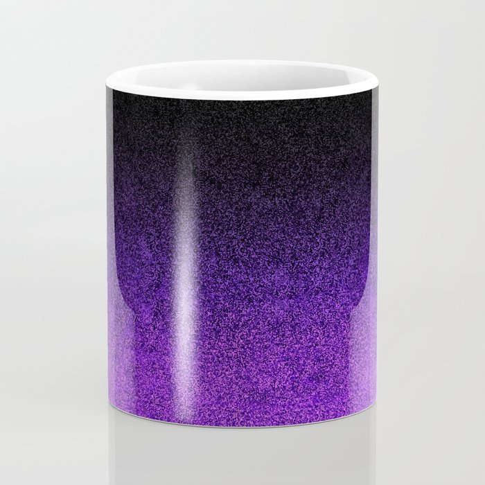 Purple & Black Glitter Gradient Coffee Mug