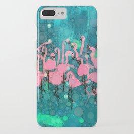 :: Flamingos Among Us :: iPhone Case