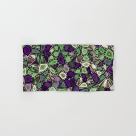 Fractal Gems 02 - Purples and Greens Hand & Bath Towel