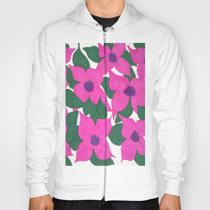 Spring Classic Pink Flowers Hoody