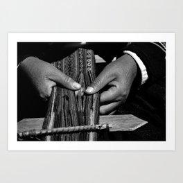 Weaver Hands Art Print