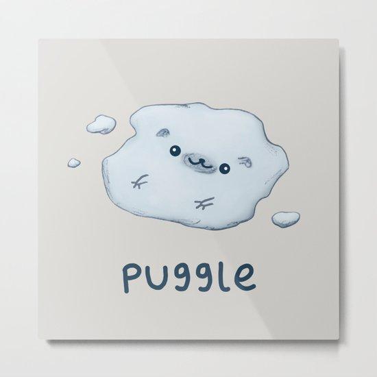 Puggle Metal Print
