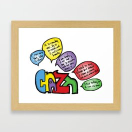 Crazy Framed Art Print
