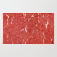 nietzsche Area & Throw Rugs featuring Carnivore by pixel404