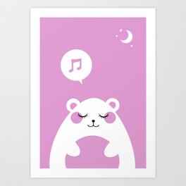 Sound Asleep Bear Art Print