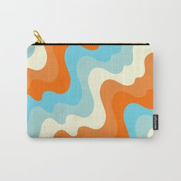 Vintage Summer Palette Mid-Century Minimalist Waves Abstract Art Carry-All Pouch