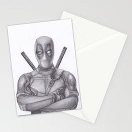 Dead pool Pencil drawing Stationery Cards