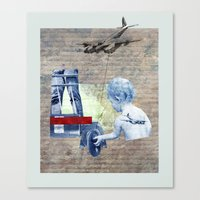 aviation Canvas Prints featuring AVIATION by shira friedman