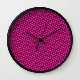 Magenta heart pattern Wall Clock