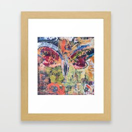 Butterfly Man, 3, Acrylic On Canvas, Chase Medved Framed Art Print