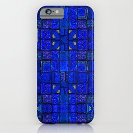 Deep Calm Blue Oriental Berber Traditional Moroccan Texture Design  iPhone Case