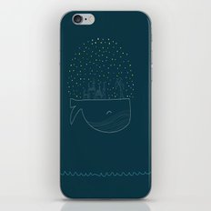 Sky Whale Island iPhone & iPod Skin
