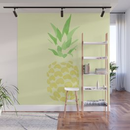 Pineapple watercolour (yellow) Wall Mural