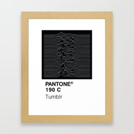 Color Swatch - Joy Division Framed Art Print