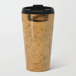Map Of Mount Vernon 1859 Travel Mug