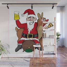 Drunken Santa Color Wall Mural