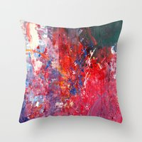 kids Throw Pillows featuring Kids by Megan Spencer