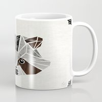 raccoon Mugs featuring raccoon! by Manoou