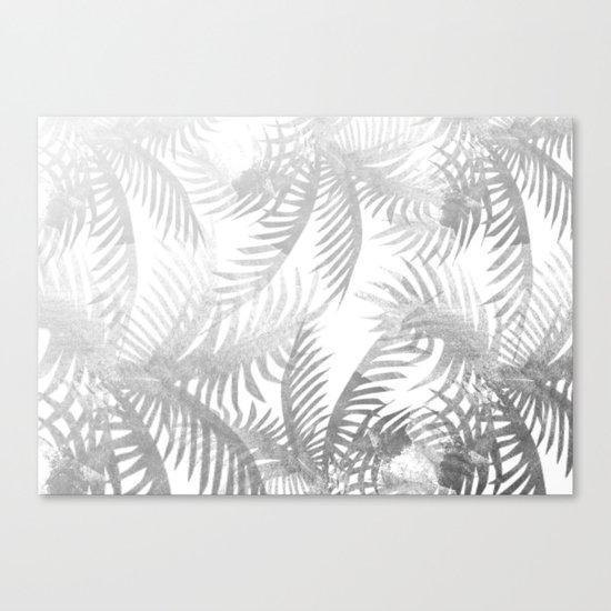 Jungle BW Canvas Print