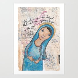 Blessed Mary by patsy paterno Art Print
