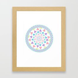 Pastel Mandala Framed Art Print