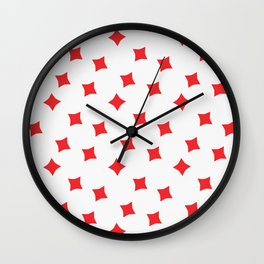 Playing cards diamonds suit Wall Clock