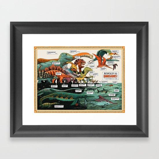 BEHOLD! THE DINOSAURS!  Framed Art Print