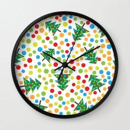 Pattern circle multi color Wall Clock