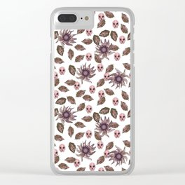 floral macabre Clear iPhone Case