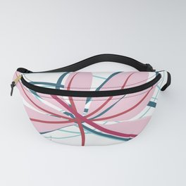 Wide Diverging Aralia Minimalist Botanical Abstract Art Fanny Pack