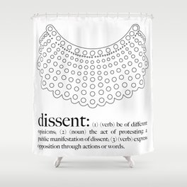 Dissent  Shower Curtain