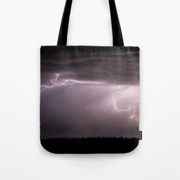 Summer Lightning Storm On The Prairie VI - Nature Landscape Tote Bag