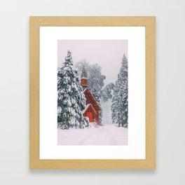 Little Church in Yosemite Framed Art Print