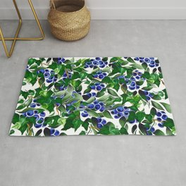 Blueberries and Ivy Rug