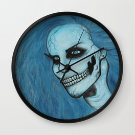 Skeleton Girl #3 Wall Clock