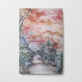 Autumn (Watercolor painting) Metal Print