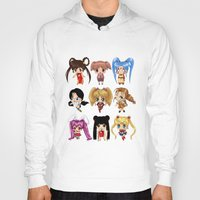 anime Hoodies featuring Anime Pigtails by artwaste